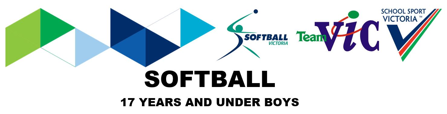 SSV 2018 Softball 17 Years and Under Boys Registration